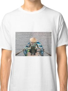 Vietnamese Lady Boat on Ngo Dong River Tam Coc Classic T-Shirt