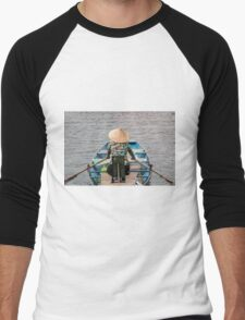 Vietnamese Lady Boat on Ngo Dong River Tam Coc Men's Baseball ¾ T-Shirt