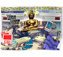 Vaporwave Seapunk Buddha is the reason Poster