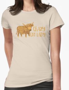 Crazy Coo (HIGHLAND COW) Lady T-Shirt
