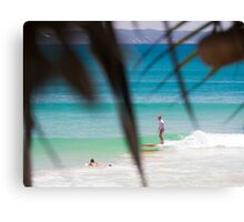 Solitary Surfer : First Point, Noosa Canvas Print