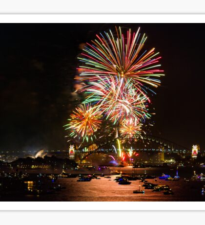 Sydney New Year's Eve Fireworks (Multicolour) Sticker