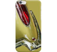 Abstract Yellow '58 Corvette iPhone Case/Skin