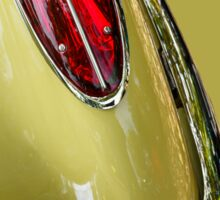 Abstract Yellow '58 Corvette Sticker