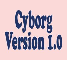 Cyborg Version 1 - Android T-Shirt Sticker One Piece - Long Sleeve
