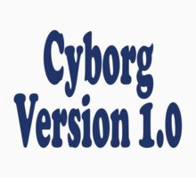 Cyborg Version 1 - Android T-Shirt Sticker Kids Tee