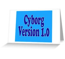 Cyborg Version 1 - Android T-Shirt Sticker Greeting Card