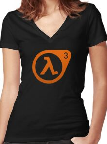 Half Life 3  Women's Fitted V-Neck T-Shirt