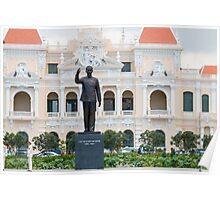 Statue of Ho Chi Minh in Saigon Vietnam Poster