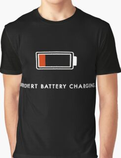 Introvert Battery Charging Graphic T-Shirt