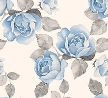 Vintage pattern. Watercolor by Gribanessa