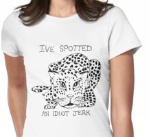 Animals Are Mean: Leopard Womens Fitted T-Shirt