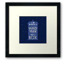 A Mad Man With A Box Framed Print