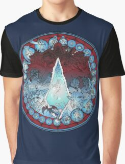 Final Fantasy XIV Stained Glass Graphic T-Shirt
