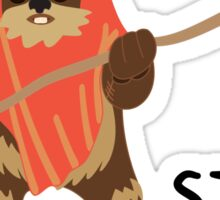 Wicket - Stop Wars Sticker