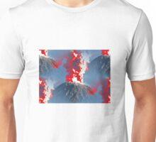 Red Smoke Volcanoes Unisex T-Shirt