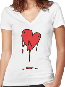 Too Much Passion Women's Fitted V-Neck T-Shirt