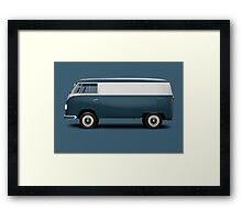 1949 Volkswagen Type 2 Prototype - Navy Blau Framed Print