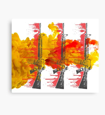 Proud Guns - Yellow Gamer Canvas Print