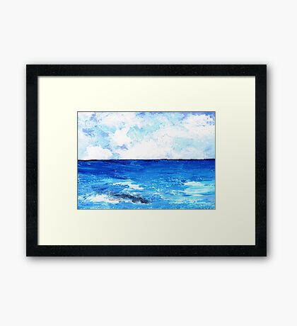 Seawater and clouds Framed Print