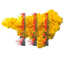 Proud Guns - Yellow Die Drop Gamer Photographic Print