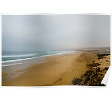The beach of the coastline between Agadir and Essaouira Poster