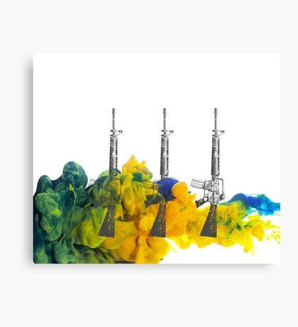 Proud Guns - Green Gamer Canvas Print