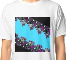 Celtic Fractals in Blue Purple and Black Classic T-Shirt