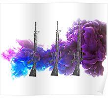 Proud Guns - Purple Gamer Poster