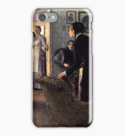 unexpected-visitors-, stylish man, home, childs iPhone Case/Skin