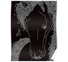 Horse Doodle Poster