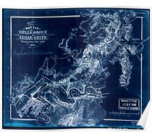 Civil War Maps 1634 Sketch of the battle of Belle Grove or Cedar Creek Wednesday Oct'r 19th 1864 Inverted Poster