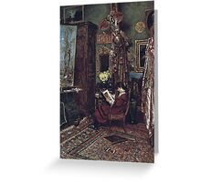 William John Hennessy - The Artist's Studio Greeting Card