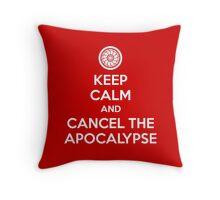 Keep Calm and Cancel the Apocalypse Throw Pillow