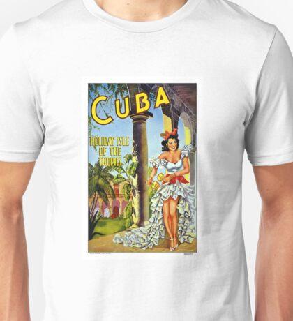 Cuba Vintage Travel Poster Unisex T-Shirt