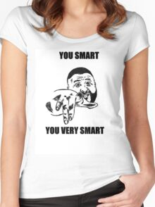 YOU SMART  Women's Fitted Scoop T-Shirt