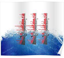 Proud Guns - Blue Base Gamer Poster