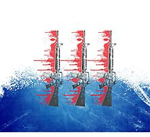 Proud Guns - Blue Base Gamer Photographic Print