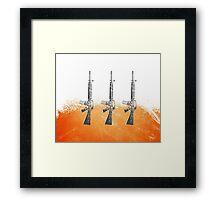 Proud Guns - Orange Gamer Framed Print