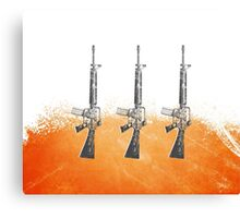 Proud Guns - Orange Gamer Canvas Print