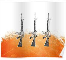 Proud Guns - Orange Gamer Poster