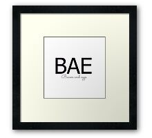 BAE bacon and eggs Framed Print