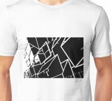Black and White abstract building Unisex T-Shirt
