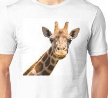 Giraffe head isolated on white background Unisex T-Shirt