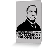 Downton Abbey Carson Excitement Tshirt Greeting Card