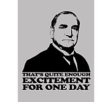 Downton Abbey Carson Excitement Tshirt Photographic Print