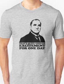 Downton Abbey Carson Excitement Tshirt T-Shirt