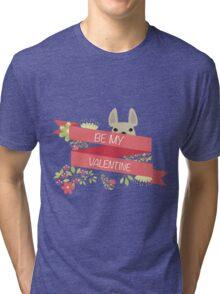 BE MY VALENTINE - FRENCH BULLDOG PINK Tri-blend T-Shirt