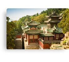 Summer Chinese Pavilion Canvas Print