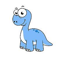 Cute illustration of a Brontosaurus. Photographic Print